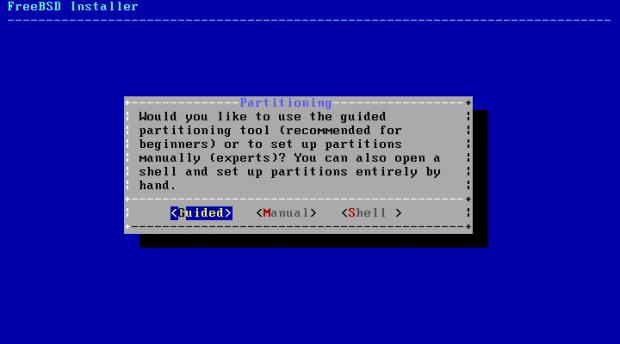 Der neue Installer von FreeBSD