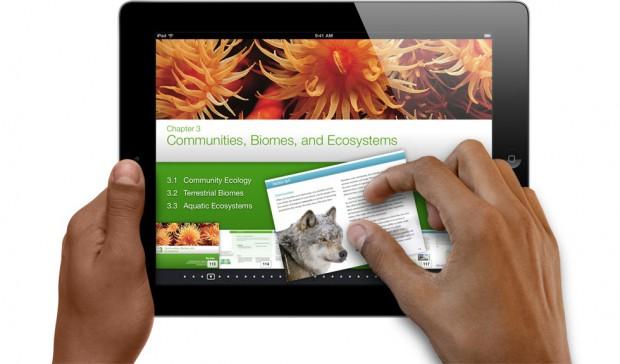 Die Anwendung iBooks 2 unterstützt interaktive Schulbücher.