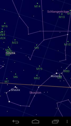 Die Android-App Sky Map