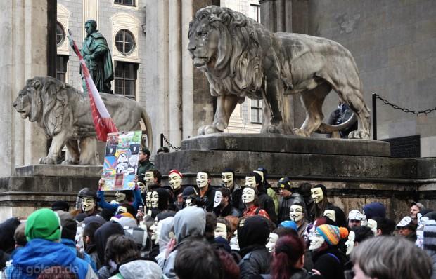 Zweiter Acta-Aktionstag in München (Bild: Nico Ernst)
