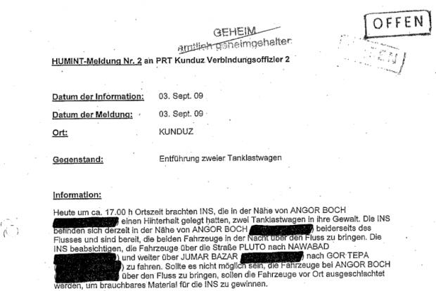 Dieses von Anoymous veröffentlicht Dokument war Offen, nicht Geheim gestempelt