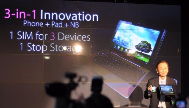 Asus präsentiert seine 3-in-1-Lösung auf dem Mobile World Congress.