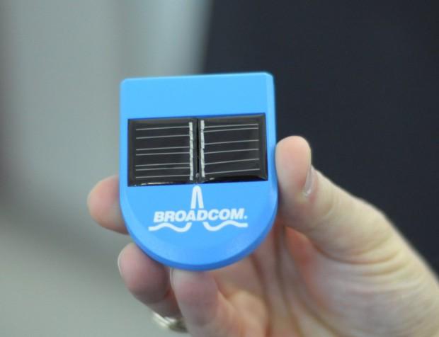 So sehen die Basisstationen für die Bluetooth-Navigation aus. Die Energie liefern die  Solarzellen...