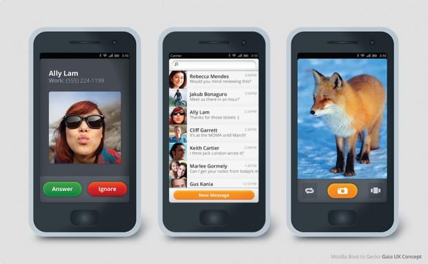 Gaia: Mozilla UI für Boot to Gecko
