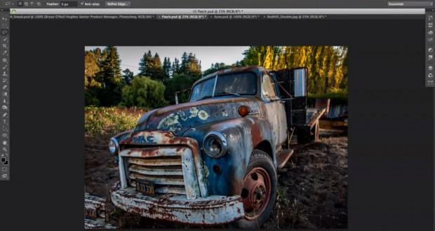 Photoshop Content-Aware Fill mit unzulänglichem Bildersatz  (Bild: Adobe)