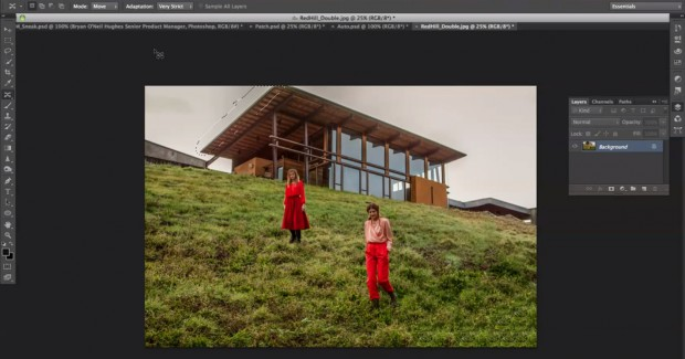 Photoshop-CS6-Funktion Content-Aware Move Extend (Bild: Adobe)