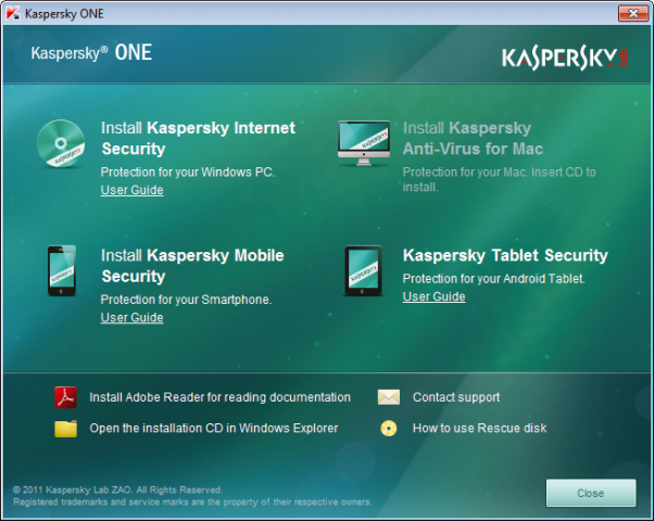 Kaspersky One Universal Security für Windows
