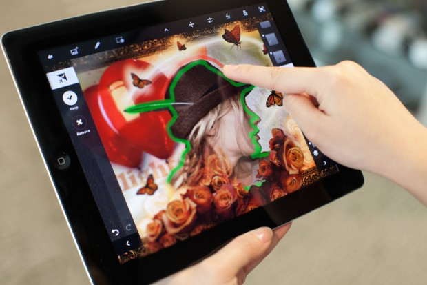 Adobe Photoshop Touch auf dem iPad 2
