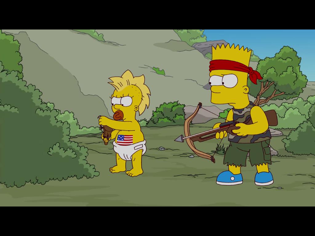 500. Folge: Julian Assange als Gaststar bei den Simpsons - Maggie - mit Nuckel und neuer Frisur