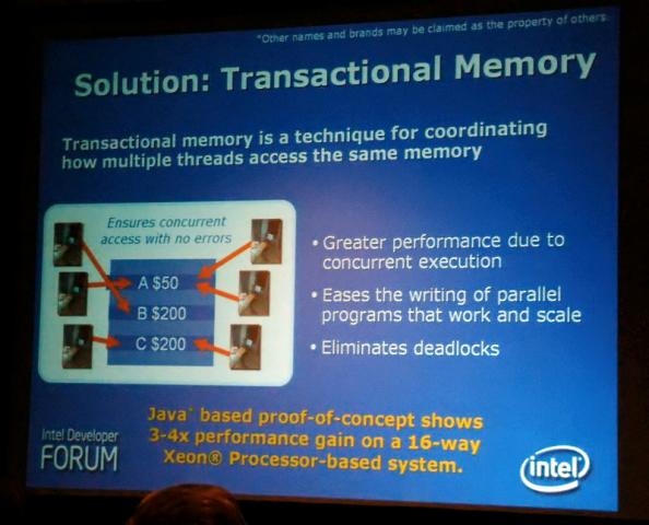 Intels erste Transactional-Vorführung auf dem IDF 2006