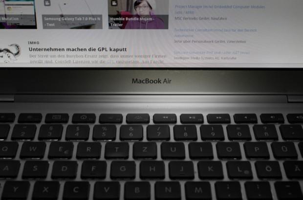 Das Design des MacBook Air der ersten Generation ist nun ein Apple-Patent (Bild: Andreas Donath)