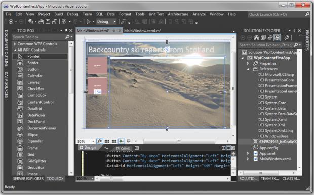Visual Studio 11: dunkles Theme