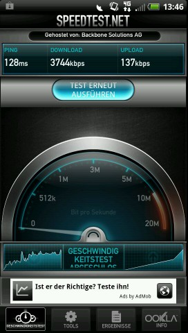 Ein erster Test am Rande des von Vodafone ausgewiesenen LTE-Gebiets