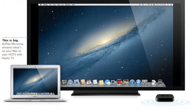 Mac OS X Mountain Lion  - neue Airplay-Funktion für HDTVs (Bild: Apple)