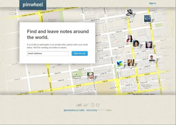 Startseite des Angebots (Pinwheel/Screenshot: Golem.de)