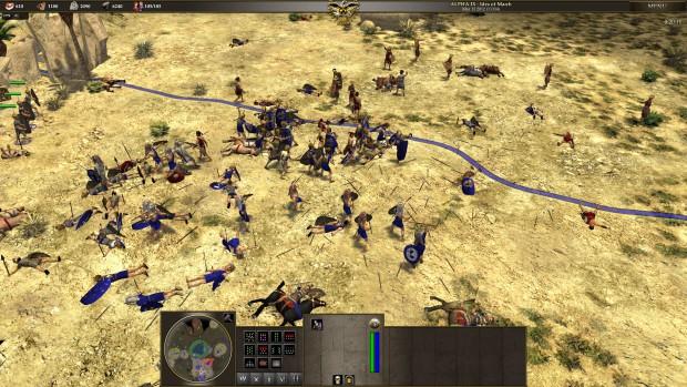 Die Römer im Kampf