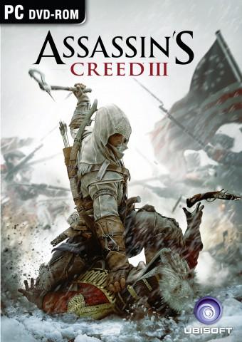 Von Ubisoft veröffentlichte Grafik der Verpackung von Assassin's Creed 3