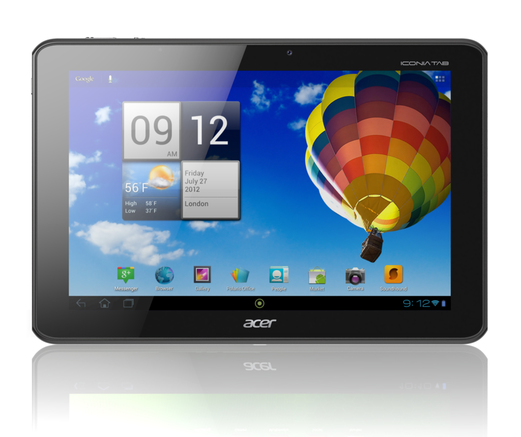 Acer Iconia Tab A511: Tablet mit 10-Zoll-Display und UMTS heute für 400 Euro - Iconia Tab A511 (Quelle: Acer)