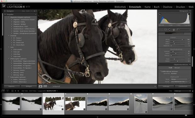 Entwickeln-Modul von Adobe Photoshop Lightroom 4 (Bild: Andreas Donath/Golem.de)