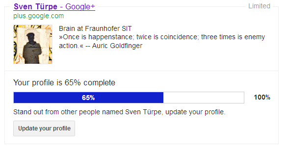 Google-Plus-Account von Sven Türpe