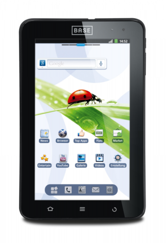 android tablet base tab 7 1 mit 7 zoll display f r 250 euro. Black Bedroom Furniture Sets. Home Design Ideas