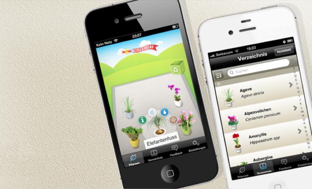 App für den Koubachi-Pflanzensensor (Bild: Koubachi)