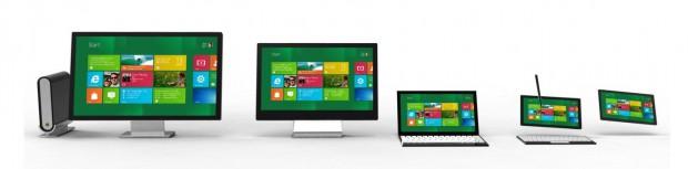 Windows 8 vor unterschiedlichen Geräteklassen.