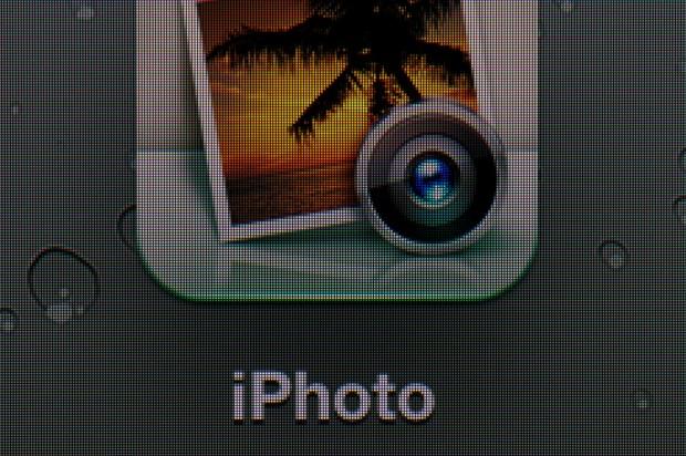 In der Makroaufnahme werden Unterschiede besonders deutlich sichtbar. Hier das iPad 3...