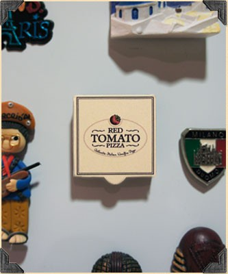 VIP Fridge Magnet (Bild: The Red Tomato Pizza)