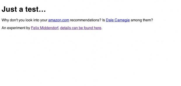 Nur ein Test - mit verstecktem iFrame, das eine Produktwebseite von Amazon.com abruft... (Screenshot: Golem.de)