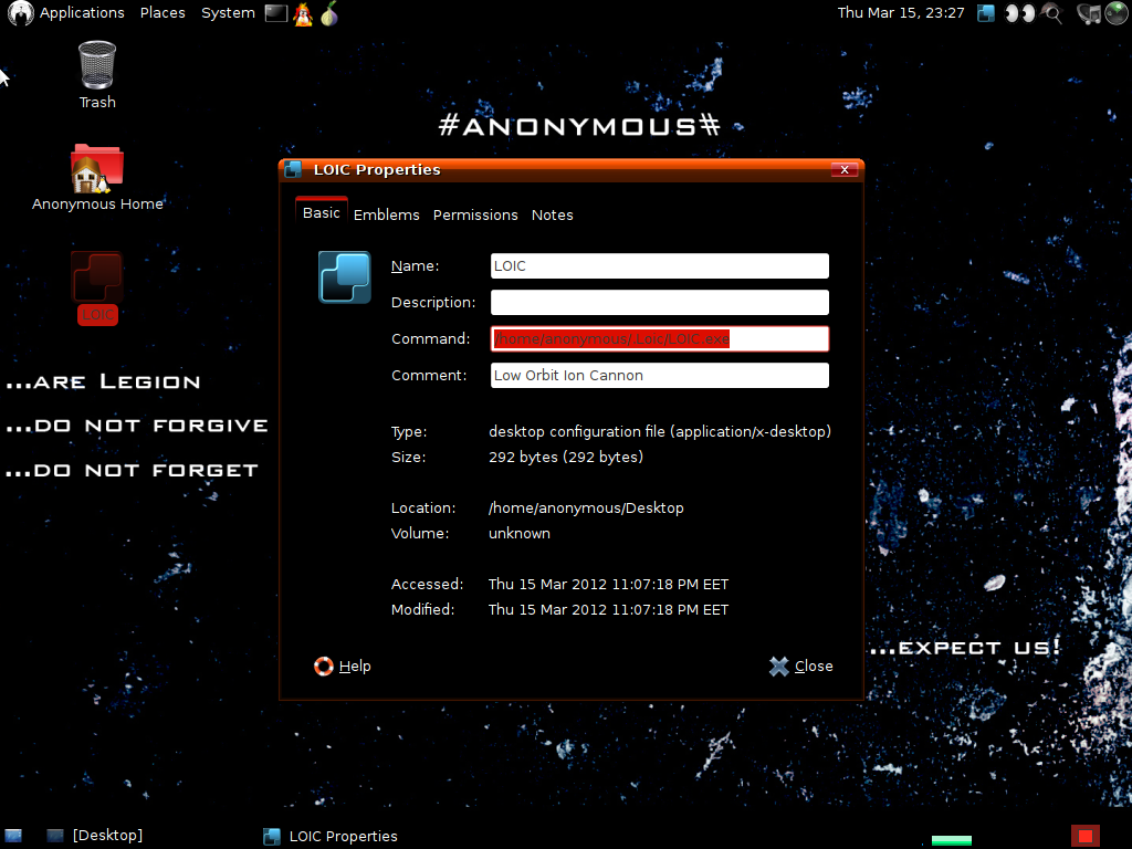 Linux-Distributionen: Anonymous OS vermutlich ein Fake - Die Datei, die Schadsoftware enthalten soll.