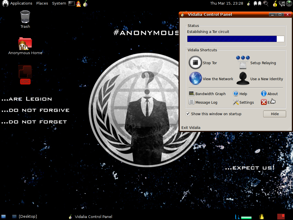 Linux-Distributionen: Anonymous OS vermutlich ein Fake - Anonymous OS