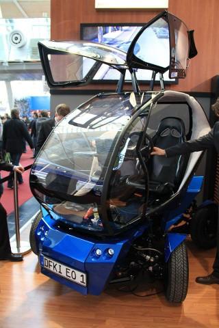 Das Elektroauto EO2 des DFKI... (Foto: Werner Pluta/Golem.de)