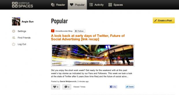 Posterous - nach Übernahme durch Twitter wohl bald Geschichte (Bild: Posterous)