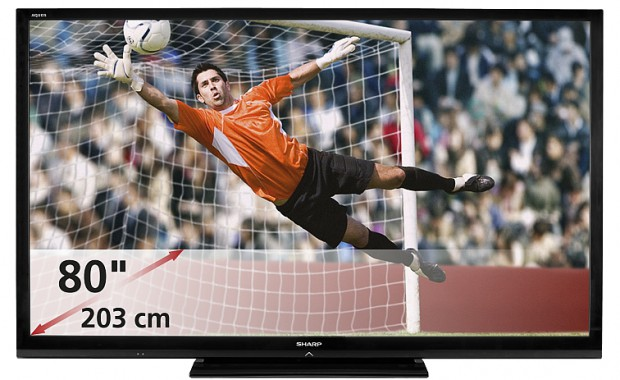 Aquos LC-80LE645E - 80-Zoll-LCD-TV mit LED-Hintergrundbeleuchung (Bild: Sharp)