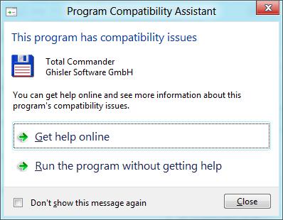 Windows 8 CP in der Praxis: Stabile Vorschau mit zwei Bedienungskonzepten durch Metro - Total Commander 7.56 ist nicht kompatibel. Windows 8 warnt vor Problemen. Erst die Version 7.57 ist stabil auf der Betaversion von Windows 8.