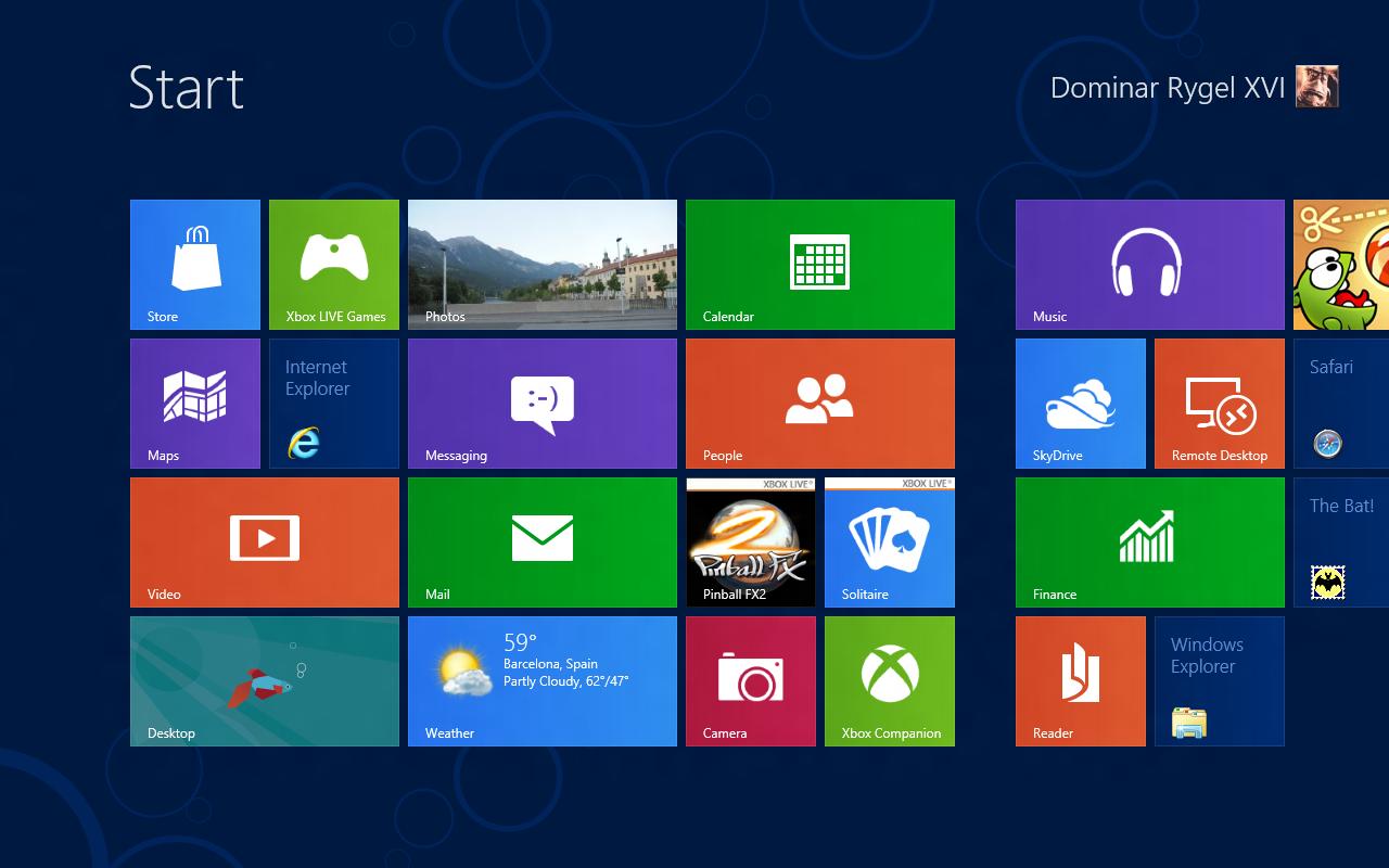Windows 8 CP in der Praxis: Stabile Vorschau mit zwei Bedienungskonzepten durch Metro - Die Metro-Kacheln mit Live-Anzeige