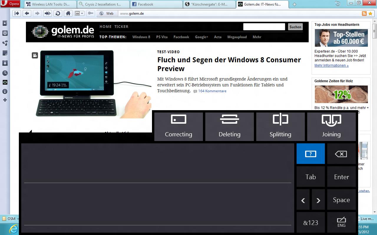 Windows 8 CP in der Praxis: Stabile Vorschau mit zwei Bedienungskonzepten durch Metro - Stift-Gesten