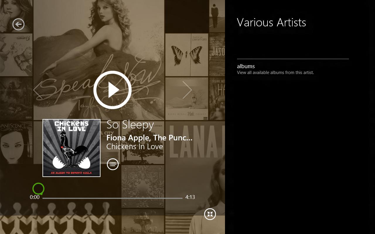 Windows 8 CP in der Praxis: Stabile Vorschau mit zwei Bedienungskonzepten durch Metro - Musikplayer