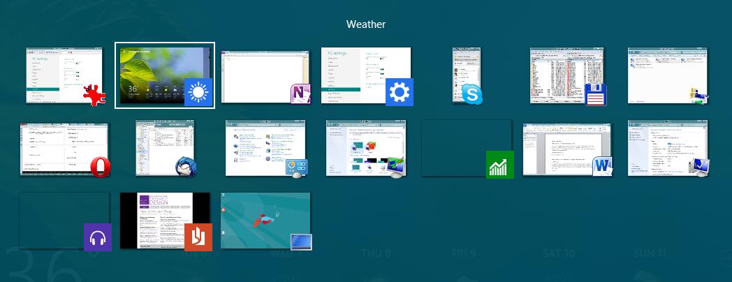 Windows 8 CP in der Praxis: Stabile Vorschau mit zwei Bedienungskonzepten durch Metro - Alt+Tab