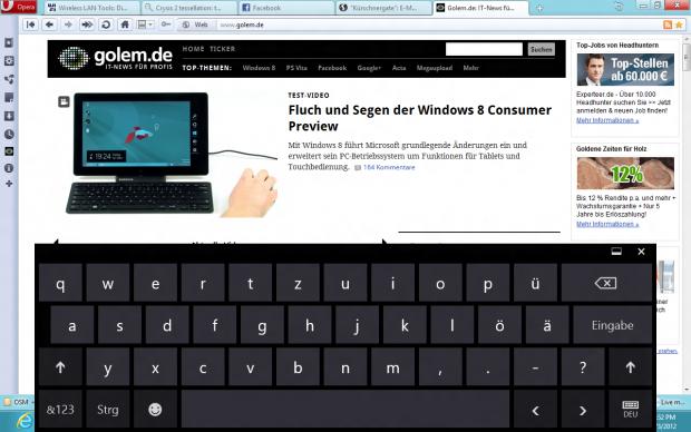 Virtuelle Tastatur mit Umlauten