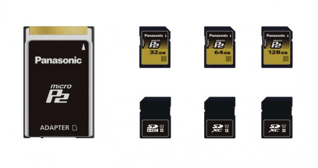 Panasonic stellt MicroP2 im SD-Kartenformat vor.