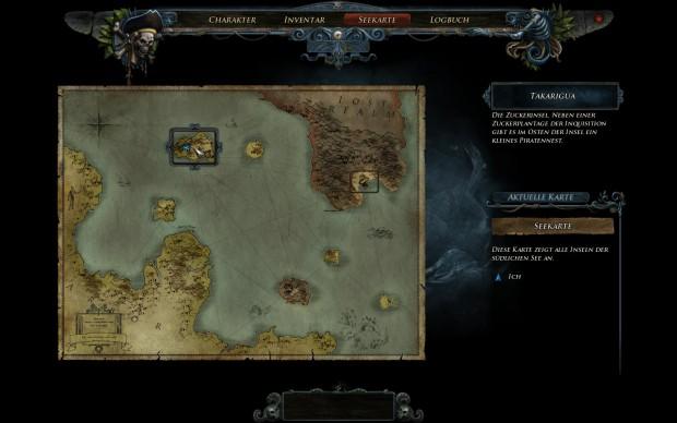 Per Schnellreisefunktion auf der Karte kann der Spieler rasch bereits besuchte Orte erreichen.