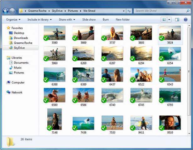 Skydrive unter Windows (Bild: Microsoft)