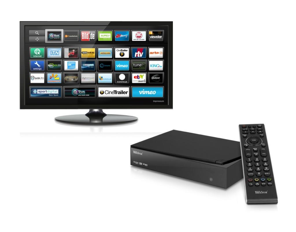Trekstor: Multimediaplayer mit Android- und iOS-Fernbedienung - Trekstor-SmartTV-Station (Bild: Trekstor)