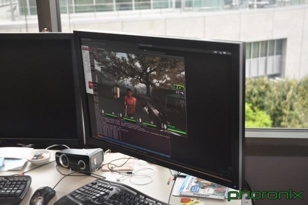 Steam läuft nativ unter Ubuntu 11.10 mit dem Catalyst-Treiber in der Firmenzentrale von Valve. Photo: Michael Larabel/Phoronix