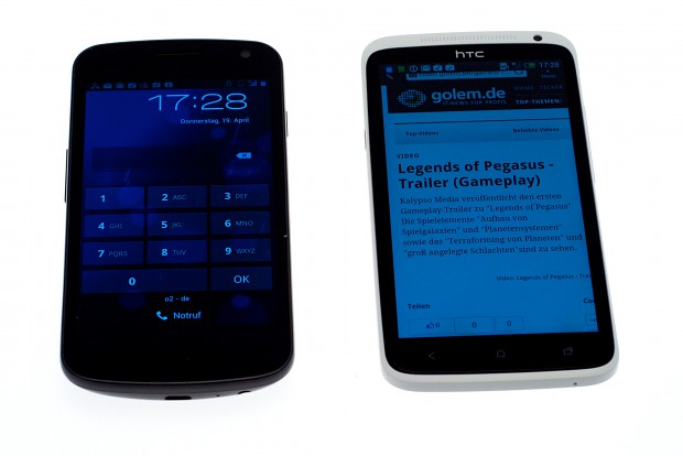 HTC One X neben dem Galaxy Nexus (Bilder: Andreas Sebayang).