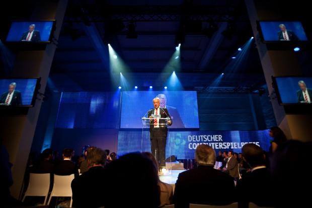 Deutscher Computerspielpreis 2012 - Kulturstaatsminister Bernd Neumann (Bild: Maximilian Knop/Konsole Labs)