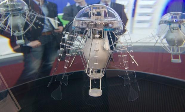 Die Roboterqualle Aquajelly auf der Hannover Messe 2012 (Foto: Werner Pluta/Golem.de)
