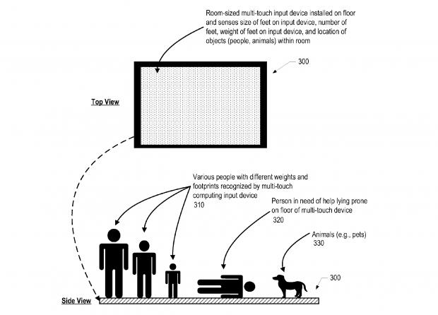 IBMs Multitouch-Fußboden (Bild: IBM/US-Patentamt)